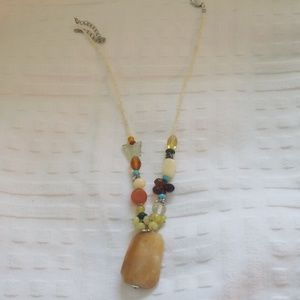 """Necklace with beautiful colorful stones 20"""""""